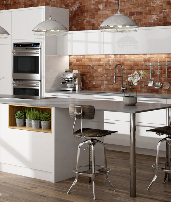 Automated Interiors Kitchen Design with Bellmont Cabinets